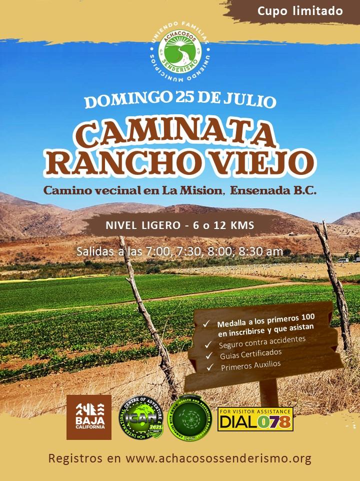 CAMINATA RANCHO VIEJO EN LA MISION ENSENADA BC